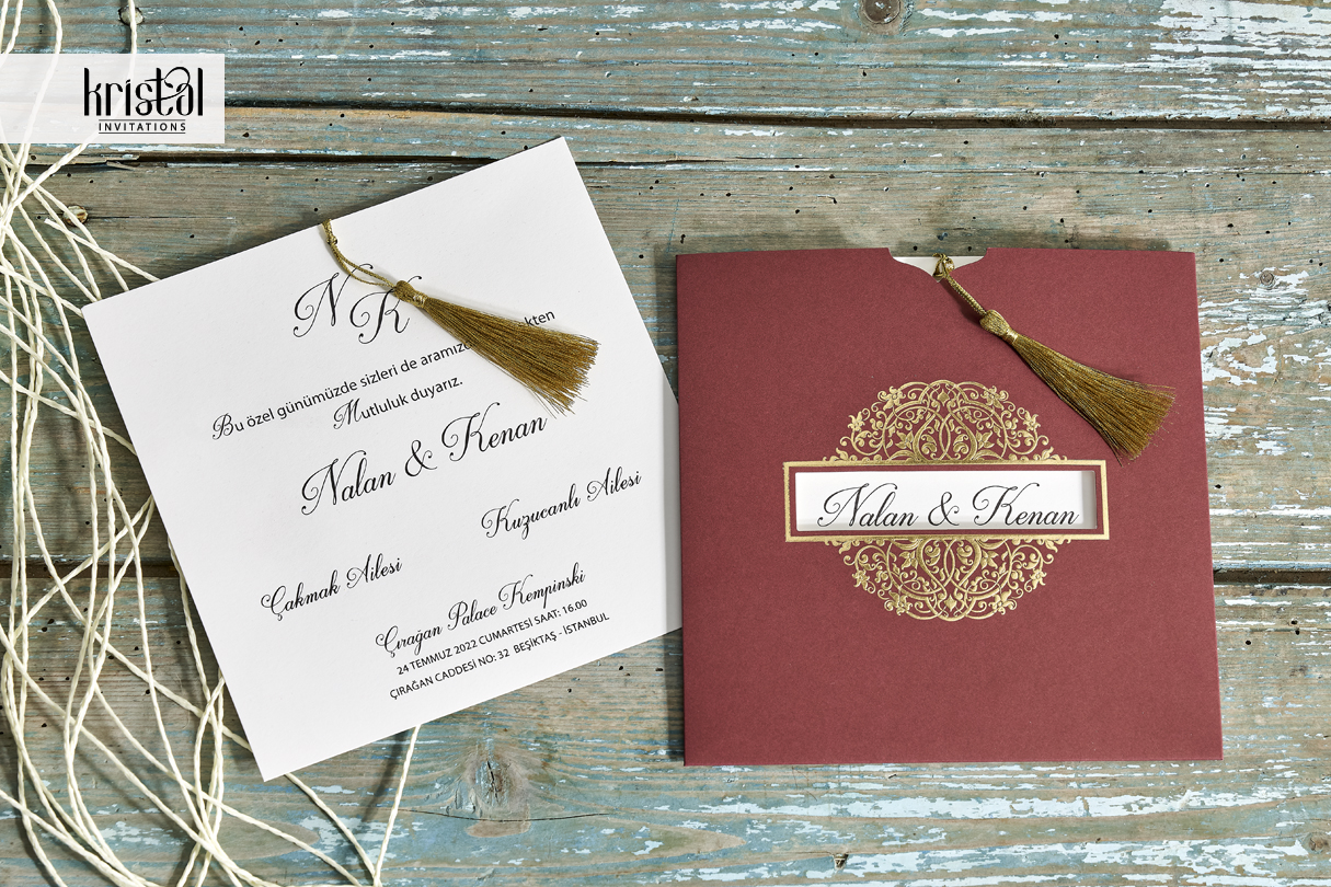 70308 - Erdem Invitations | Wedding Invitations